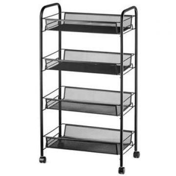 Black Living Room Storage Rack 5 Tier Adjustable Wire Shelving