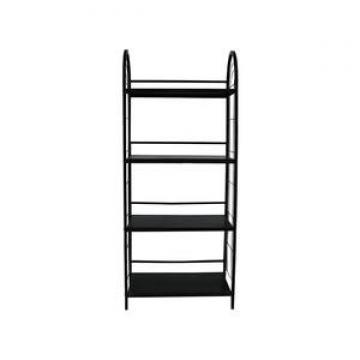 4-Tier Storage Utility Shelf Organizer Industrial Style Wood Bookshelf Designs