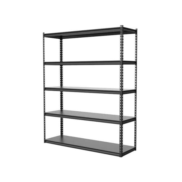 Heavy Supermarket/Warehouse Steel Metal Display Adjustable Rivet Rack Shelving #1 image