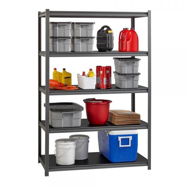 China Industrial Light Heavy Duty Warehouse Storage Pallet Boltless Rivet Angle Metal Steel Shelf #1 image