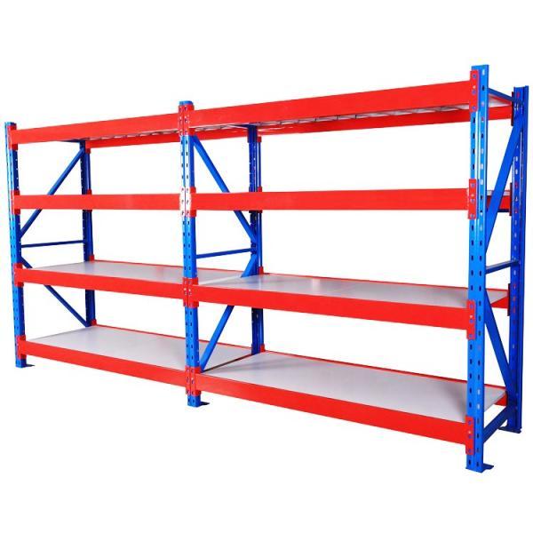 Heavy Supermarket/Warehouse Steel Metal Display Adjustable Rivet Rack Shelving #3 image
