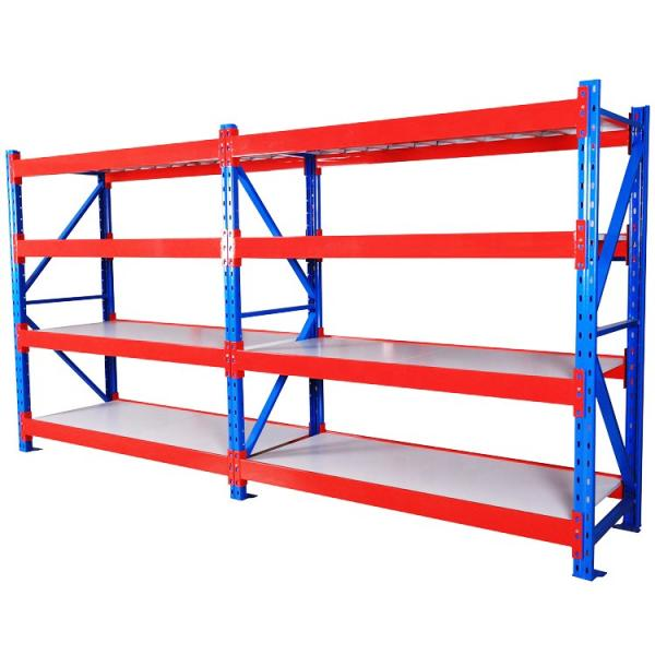 Steel Metal Heavy Supermarket/Warehouse Display Adjustable Rivet Rack Shelving #3 image